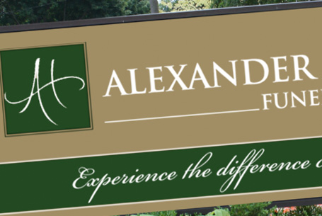 Alexander & Houle Exterior 2 sided Backlit Sign