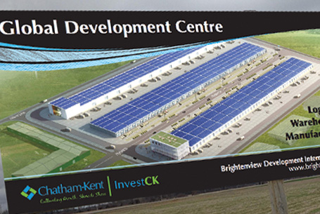 2 Global Development Centre 12′ x 8′ Site Signs