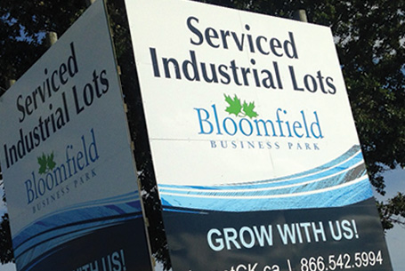 2 –  16′ x 20′ Bloomfield Business Park Signs