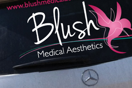 Blush Medical – Rear window Graphic