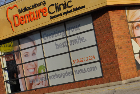Exterior Acrylic Signs & One way window graphics
