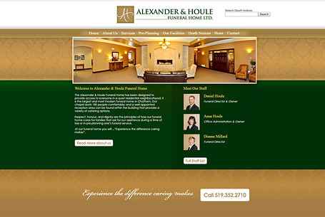 Alexander Funeral Home – Website Design