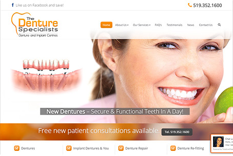 The Denture Specialists – Website Design