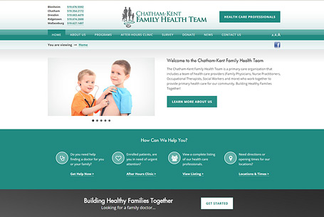 Chatham-Kent Family Health Team – Website Design