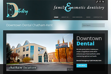 Downtown Dental – Website Design