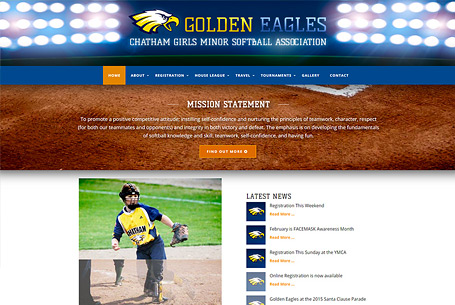 Golden Eagles – Website Design