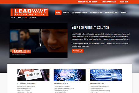 Leadwave – Website Design