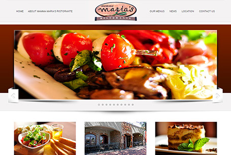 Mamma Marias – Website Design