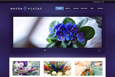 Mocha Violet – Website Design