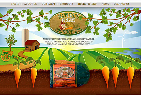 Natures Finest Produce – Website Design