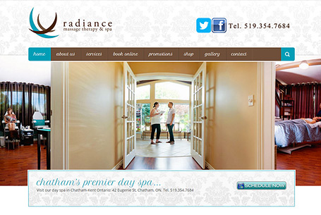 Experience Radiance – Website Design