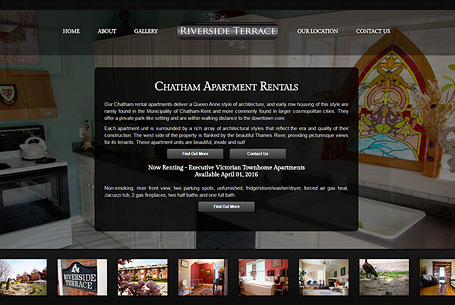 Riverside Terrace – Website Design