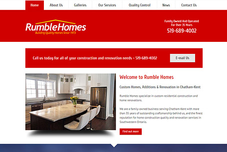 Rumble Homes – Website Design