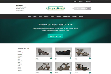Simply Shoes – Website Design