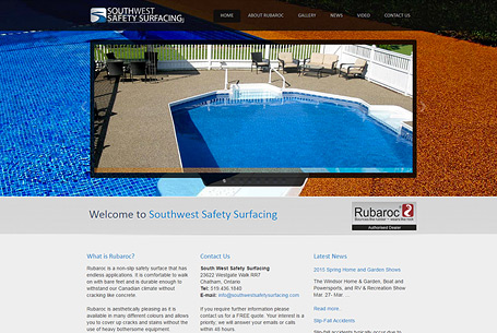Southwest Safety Surfacing – Website Design