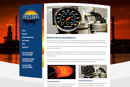 Sunrise Steel – Website Design