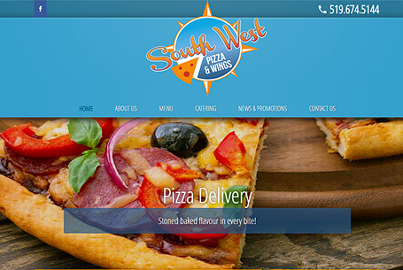 Southwest Pizza – Website Design