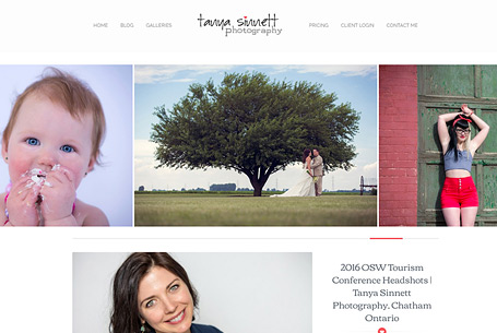 Tanya Sinett Photography – Website Design