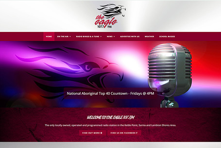 The Eagle Radio Station – Website Design