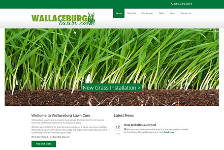 Wallaceburg Lawn Care – Website Design
