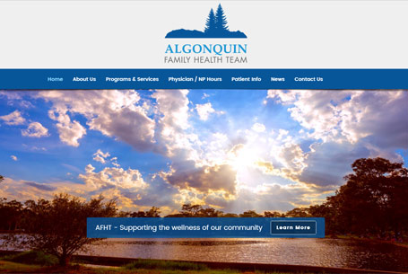 Algonquin Family Health Team – Website Design