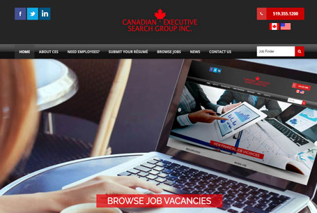 Canadian Executive Search Group – Website Design
