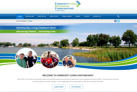 Community Living Chatham-Kent – Website Design