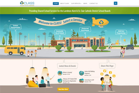 CLASS Shared School Services – Website Design