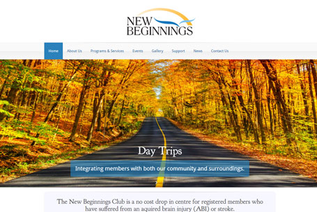New Beginnings – Website Design