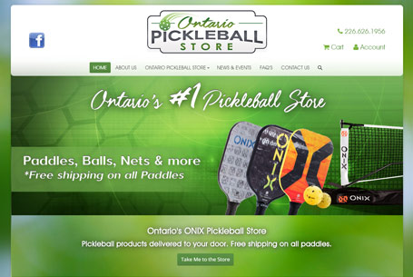 Ontario Pickleball Store – Website Design
