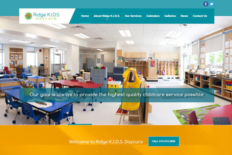 Ridge Kids Daycare – Website Design