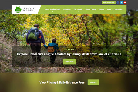 Rondeau Provincial Park – Website Design