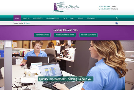 Tilbury District Family Health Team – Website Design